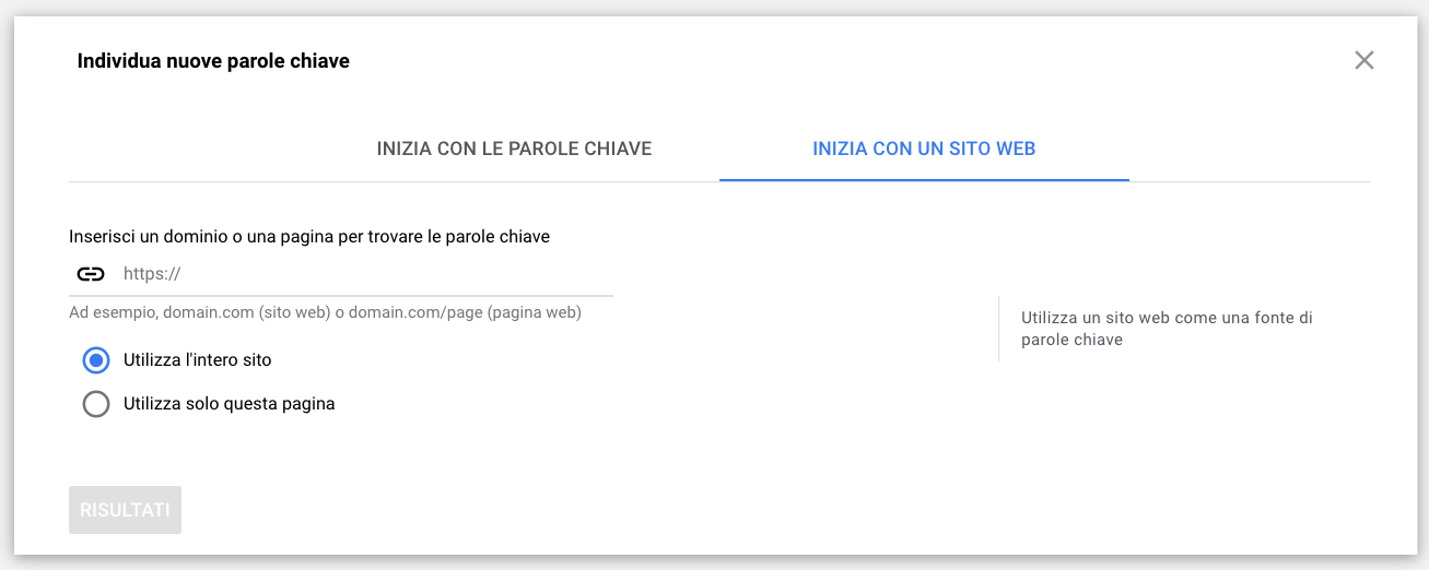 Parole Chiave Sito Web: Keyword Planner Tool Fa Concorrenza A SEOZoom?